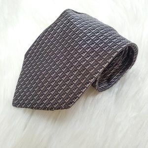 Fendi Zucca Gray Mens Tie